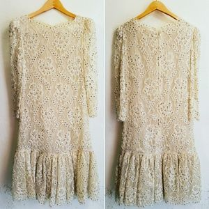 Vintage Lace and Studded dress